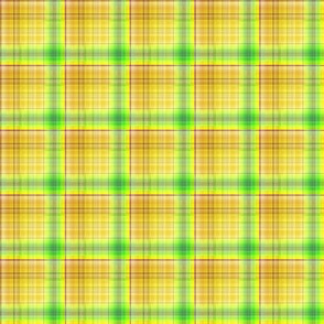 DREAM OF AN OCEAN YELLOW SUNNY AND GRASS SEA GARDEN PLAID