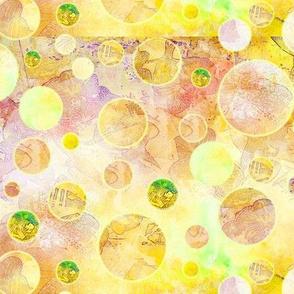 DREAM OF AN OCEAN YELLOW SUNNY AND GRASS SEA GARDEN Balloon Bubbles