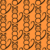 Modern Orange Sherbet  Katzen  Cat