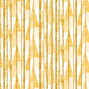 Slashed Block Stripe Gold