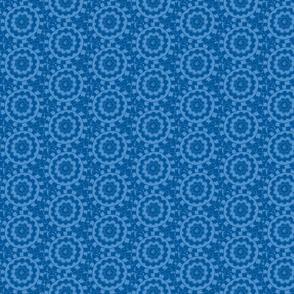 Circle Ikat Sky Blue/Navy