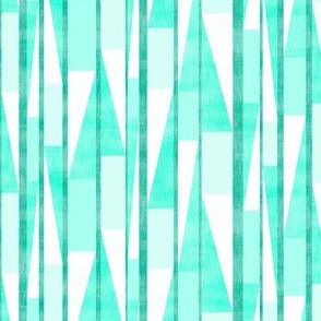 Slashed Block Stripe Turquoise