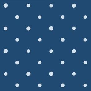 Dots on Light Indigo