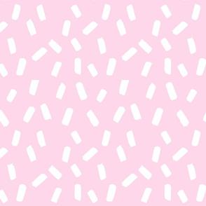 Pink Sprinkles hand painted