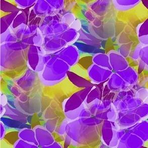 purple floral blossom garden