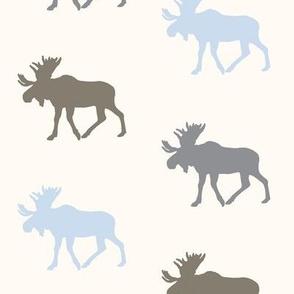 Multi moose on ivory