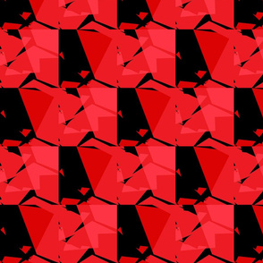 Red and Black Geometric