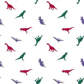 Dinos // red/green/purple