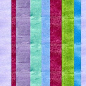 Wide Watercolor Stripes