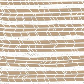 Tan Horizontal Feathers