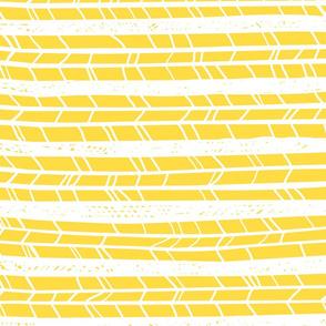 Yellow Horizontal Feathers