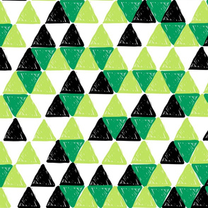 Black and Green Triangles