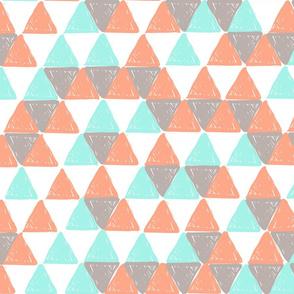 Aqua and Coral Triangles