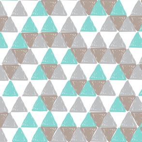 Tan and Aqua Triangles