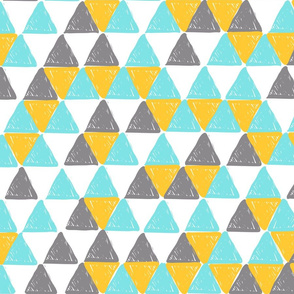 Yellow and Grey Triangles