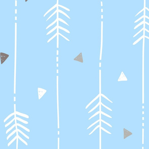 Large Light Blue Arrows