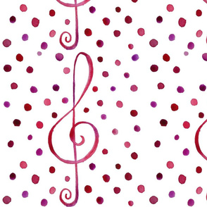 Polka Dot Treble Clef