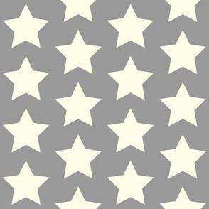 cream star on gray