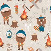 "Lumberjack ""Forest friends"""