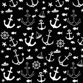 Black and White Multi Anchors