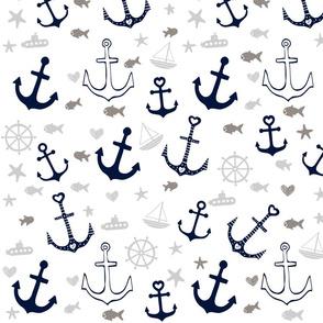 White Multi Anchors