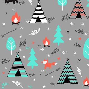Grey Campfire