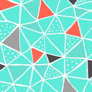 Aqua Triangles