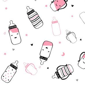 Pink Smiley Bottles