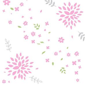 Light Pink Flower Bursts