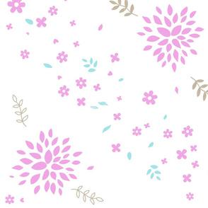 Violet Flower Bursts