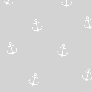 White Anchors on Grey