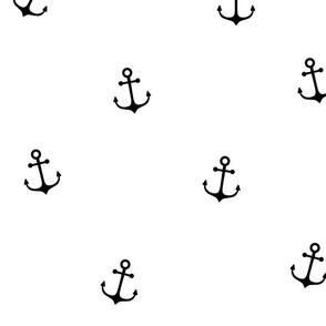 Black Anchors on White