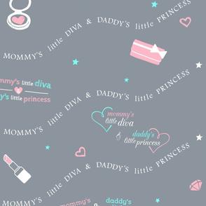 Grey Diva and Princess