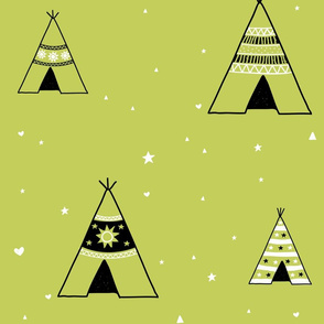 Large Light Green Teepees