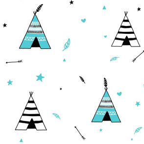 Black and Blue Teepees