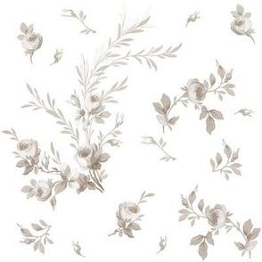 Theodora Floral Belgian linen