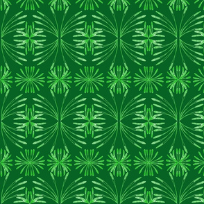 Lush Leafy Tropical on Grape Leaf Green