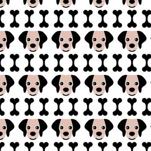 Cool beagle puppy dogs patch works and dog bone fabric for cool dogs and kids