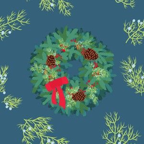 Christmas Wreath with Juniper
