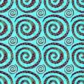 Blue Gold Spirals