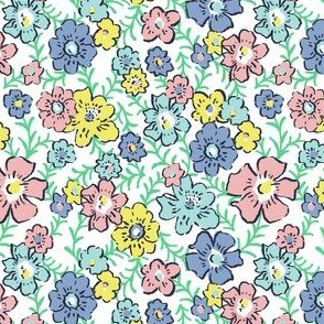 Ditsy Floral - Mint