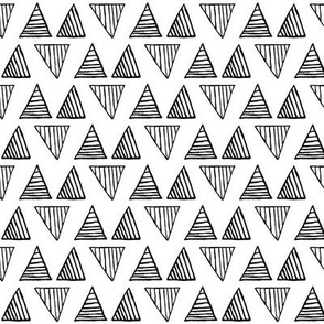 Black Triangles on White - Small