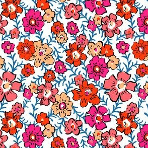 Ditsy Floral - Red