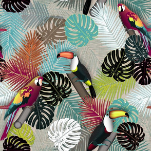Tropical Birds (Color 2 - Bold)
