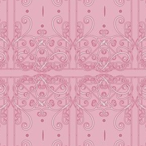 Pink Filigree Damask