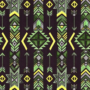 Ethnic Arrow - Moss