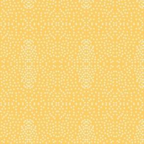 Pewter Pin Dot Patterns on Citrine