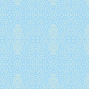 Pewter Pin Dot Patterns on Blue Hyacinth