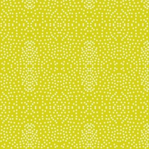Pewter Pin Dot Patterns on Bush Lemon