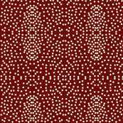 Pewter Pin Dot Patterns on Garnet
